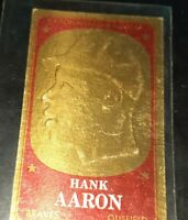 1965 Topps Embossed Gold Foil Hank Aaron Gold All Star #59