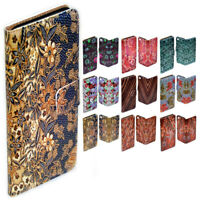 For Samsung Galaxy Note Series Batik Pattern Print Flip Case Wallet Phone Cover