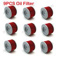 9x Oil Filter For Kawasaki KLX110 KLX140L KL250 Honda CBR250R TRX700XX FMX650