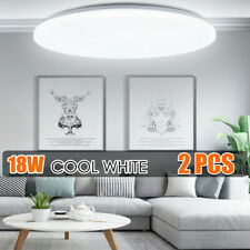 2X 18W Led Surface Mount Fixture Ceiling Light Room Kitchen Round Panel Lights