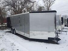 NEW 8.5 X 29 Enclosed COMBO TRAILER SNOWMOBILE CAR HAULER  LOADED