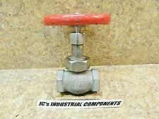"Globe valve  stainless   1"" npt  Aloyco  figure 40-D  200 cwp"