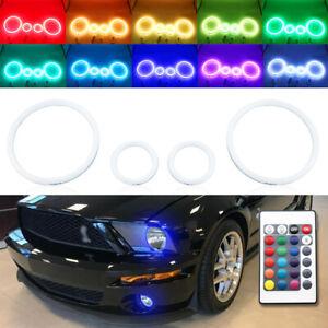 IR RGB Halo Ring for Ford Mustang GT500 07-09 headlight fog light LED angel eye