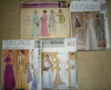 Lot of 4 Wedding Attire Sewing Patterns Bridal & Attendants Gowns 3 UNcut & OOP