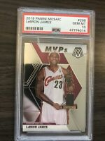 2019-20 Panini Mosaic Lebron James MVPs #298 PSA 10 QTY