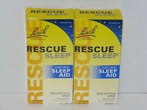 2 Bach Homeopathic RESCUE SLEEP Aid SPRAY 20 ml .7 oz Spray Vegan Gluten Free
