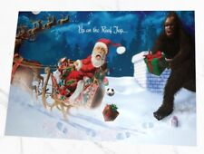 Up on the Roof Top... Bigfoot Holiday Greeting cards 10 pack