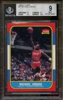 1986-87 Fleer #57 Michael Jordan Rookie Card BGS 9 (9 9 9 8.5)