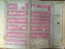 1914 G.W. Bromley Harlem Manhattan Original Map Atlas Lenox -8Th 139Th - 145Th