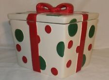 REAL HOME Earthenware Cookie Jar 21487 Gift Box / Present Polka Dot Canister