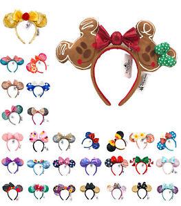 Disney Park Minnie Mouse Ears Bow Mickey Snowflake Cos Belle Ariel Headband