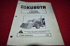 Kubota Model B1620 Front Loader Operator's Manual YABE11