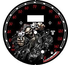 yamaha Star Raider 1900 Custom Speedo Face Plate  KM/H  & MPH Gunslinger Grim