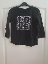 Mädchen Top Shirt Langarm Schwarz Größe 146-152 von H&M