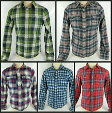 Men's Abercrombie&Fitch Flannel Plaid 5 shirts Medium(muscle fit)
