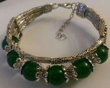Jade Tibetan Silver Costume Bracelets