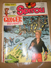 Spirou N° 2319 1982 Bd Ginger Oncle Paul Bobo Sin Glass Yoko Tsuno Le Flagada