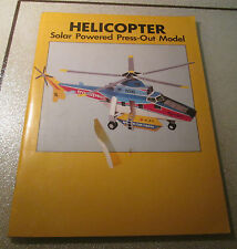 Helicopter Solar Powered Press Out Model 1983 PRICE/Stern/Sloan Unused