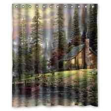 Custom Sea Lighthouse Cottage House Print Bathroom Shower Curtain Decor 60x 72
