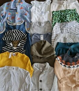 BULK BABY BOYS CLOTHING - Size 0 - 17 Items - Preloved - Anko, Dymples - B057