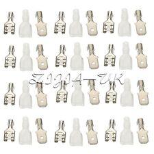 200PCS 6.3mm Female + Male + Case Circuit Board Connector Crimp Terminal