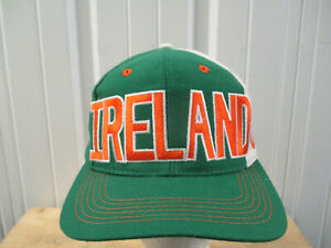 VINTAGE ADIDAS IRELAND MEN'S NATIONAL TEAM SEWN SNAPBACK HAT CAP 1994 WORLD CUP