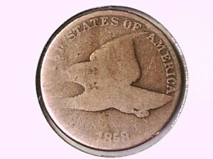 1858 Flying Eagle Cent Genuine Raw Ungraded 01092
