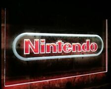 Nintendo 2 color dual LED Neon Bar Sign Home Light up colour mario wii ds duel