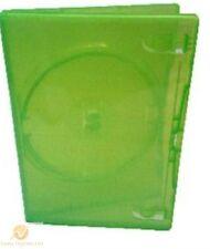 100 único Transparente Verde Dvd Funda 14 Mm De Lomo vacío de reemplazo amaray cubierta