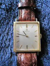 Classic Vintage Omega Mens 14K Gold Filled Wristwatch 17 Jewels Square