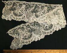 "Antique 1800's Point de Gaze Hand Made Lace Trim One Yard  X 7""  Wide !!!!"