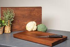 Hochwertiges Schneidebrett Küchenbrett aus Nussbaum Massiv Holz Premium