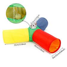 3 Ways Pet Cat Tunnel Play Toy 1 Holes Rabbit Kitten Foldable Tunnels Multicolor