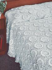Vintage Crochet Pattern Sunflower Motif Bedspread