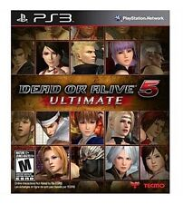 Dead Or Alive 5 Ultimate (Sony Playstation 3 PS3, 2013) Complete