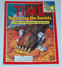 GOLD SQUEEZING THE SOVIETS TIME MAGAZINE JANUARY 28 1980  VERY GOOD