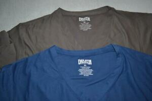 27341-a Mens Duluth Trading Gym Shirt Athletic Lot Of 2 Size XL Brown Blue