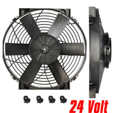 "Revotec Universal Slim Line Engine Cooling Fan 12/"" 305mm Pusher//Blowing"