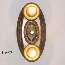 104b Vintage 10's 20's arT Nouveau Ceiling Light Fixture Polychrome sconce ?