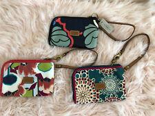 Fossil PVC Keyper Multi-Color Floral Print Wallet Wristlet NWT