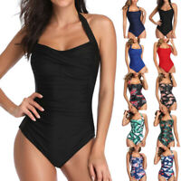 Sexy Women One Piece Swimsuit Push Up Padded Bikini Swimwear Bathing Monokini