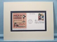 Walt Disney - Mickey Mouse and Pluto and the First Day Cover of their own stamp