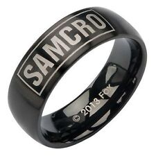 Authentic Sons Of Anarchy Unisex Samcro Steel Biker Soa Tube Ring Size 9