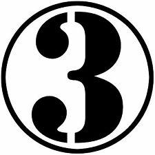 Multiple Color Graphic Retro Circle Number Symbol Car Racing Vinyl Decal Sticker