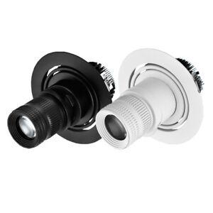 LED COB Ceiling Spot Light Picture Focus Lamp Zoomable Aperture Teahouse 85-265V