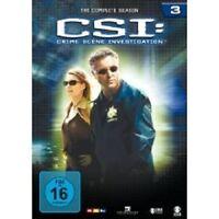 "CSI CRIME SCENE INVESTIGATION ""SEASON 3"" 6 DVD BOX NEU"