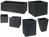 Cube Rectangle Sturdy Large Square Planters Plant Pot Troughs indoor Outdoor