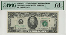1977 $20 FEDERAL RESERVE STAR NOTE RICHMOND FR.2072-E8 PMG CH UNC 64 EPQ (425*)