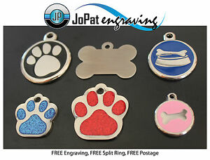 Deluxe Pet ID Tag Dog Kitten Puppy Cat Name Tags Personalised Engraved Engraving