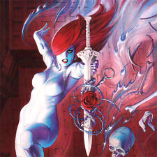 "DAWN Cover ART PRINT Swordmaster's Daughter SIGNED Joseph Michael Linsner 17x11"""